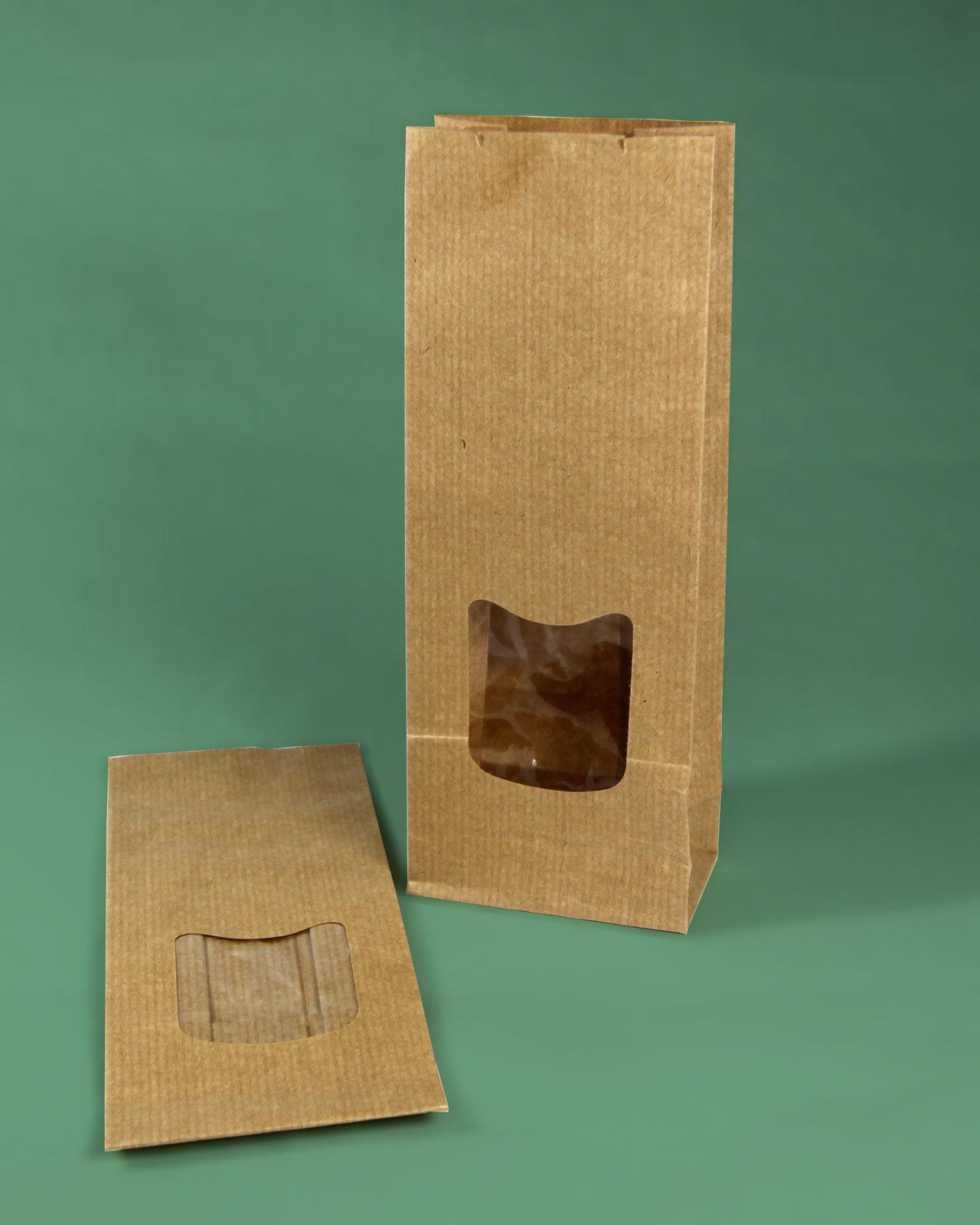 Sacs sos papier kraft brun fen tre for Sac kraft fenetre